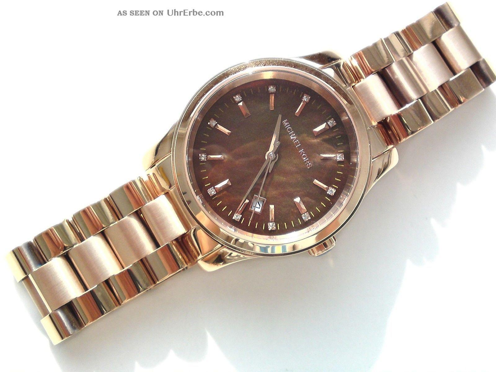 michael kors damen armband uhr chronograph rose. Black Bedroom Furniture Sets. Home Design Ideas