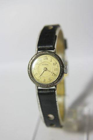 Sehr Seltenere Wempe 800er Silber Damenuhr Ca.  30/40 Jahre? Bild