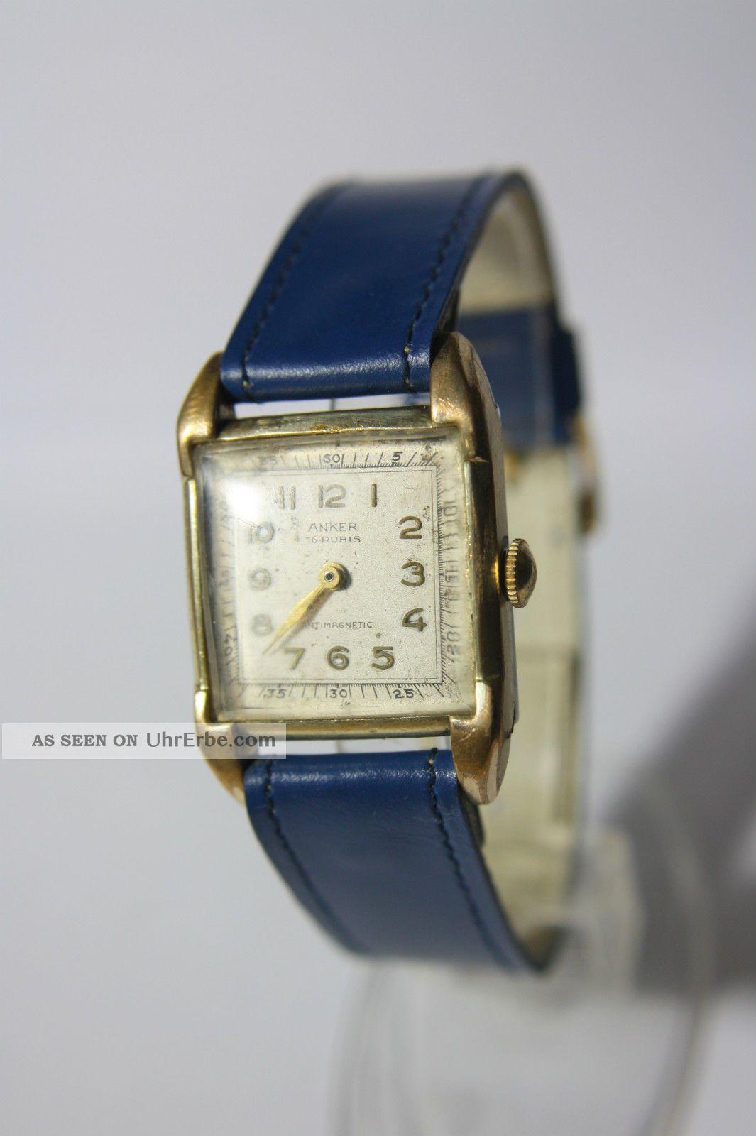 Sehr Alte Anker Herrenuhr Ca.  30/40er Jahre? Armbanduhren Bild