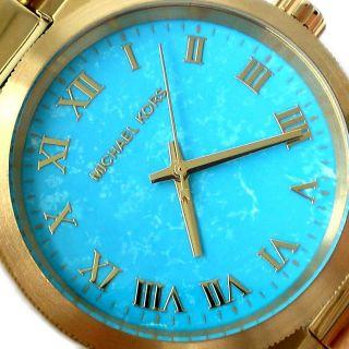 Michael Kors Damen Armbanduhr Brooks Channing Türkis Edelstahl Vergoldet Mk5894 Bild