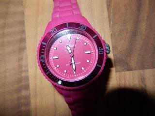 S.  Oliver Watch Silikon Armbanduhr Kids Kinder Pink Rosa Bild