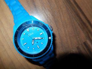 S.  Oliver Watch Silikon Armbanduhr Kids Kinder Türkis Blau Bild