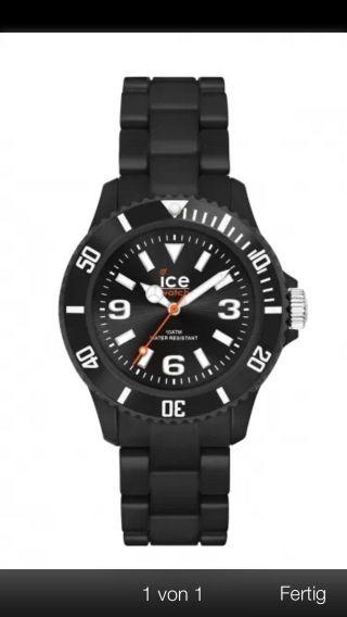 Ice Watch Uhr Ice - Solid Black Big Schwarz Plastik Sd.  Bk.  B.  P.  12 Bild