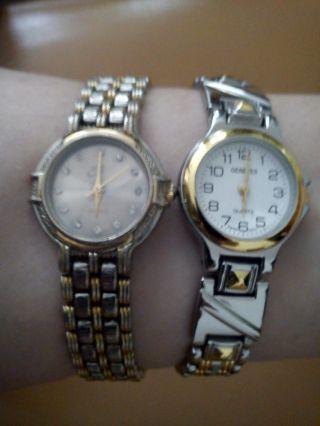 Damen Armbanduhr Nike,  Geneves Elegante Damenuhren Gold Silber Quartz Uhr Bild