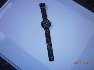 Flik Flak Hello Kitty Uhr Mädchen Kinderuhr Schwarz/pink Bild