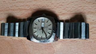 Timex,  Vintage Armbanduhr Mit Edelstahlarmband,  Handaufzug,  Datum Bild