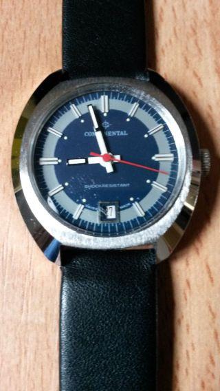 Continental Swiss Armbanduhr,  Nos,  Handaufzug,  Datumsanzeige,  Unbreakable Spring Bild