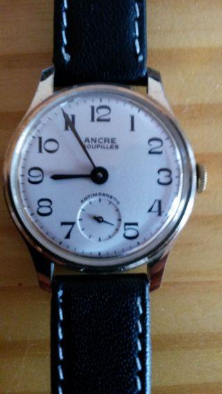 Ancre Goupilles Armbanduhr Vintage Wristwatch Bild