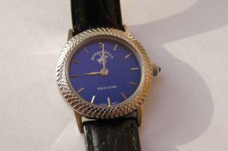 Beverly Hills Polo Club Damenuhr Uhr Elegance Lederarmband Blau Bild