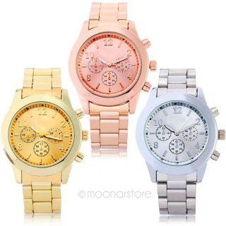 2014 Frauen Mädchen Unisex Exquisit Charm Rostfrei Stahl Quartz Wrist Uhr Bild
