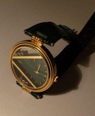 Mc Damenuhr Quartzuhr Marke Design Style Swarovsji Steine ? Leder Armband SchÖn Bild