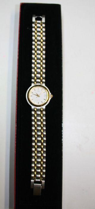 Damen Armbanduhr,  Cmi,  Bicolor,  Edelstahl,  Datumsanzeige,  Neue Batterie Bild
