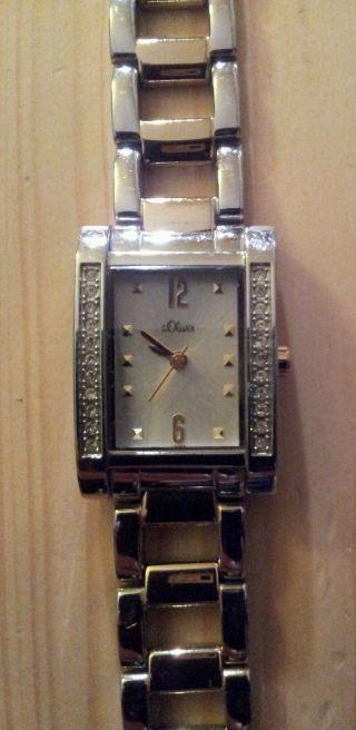 Damenuhr Armbanduhr S.  Oliver Bicolor Gold - U.  Silberfarben Top Bild