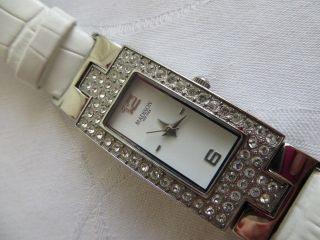 Wunderschöne Madison Mädchen Damen York Armbanduhr Quarz Läuft Gut Bild