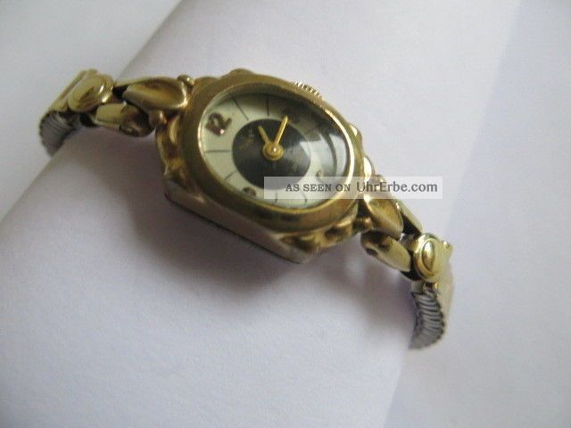 Alte Anker Schweiz Damen Armbanduhr 17 Jewels Handaufzug 1950 Läuft Gut Armbanduhren Bild