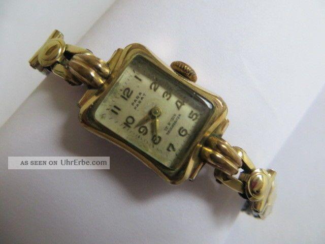 Alte Para Schweiz Damen Armbanduhr 17 Rubis Handaufzug 1940 Läuft Armbanduhren Bild