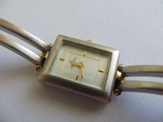 Bezaubernde Dugena Damen Armbanduhr Schweiz Quarz Gold Silber Läuft Bild
