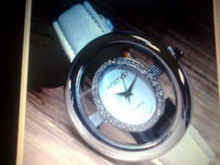 Damen Armbanduhr Weiß/silber Mit Strass Bild