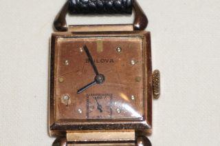 Bulova Damenuhr 14k Gold Filled Vintage - Handaufzug Mit Kleiner Sekunde Bild