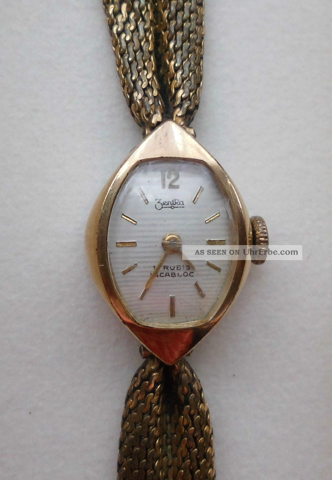 Zentra Incabloc Damen Uhr Gold (läuft) Armbanduhren Bild