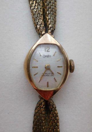 Zentra Incabloc Damen Uhr Gold (läuft) Bild