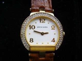 Armbanduhr Piere Cardin Mit Strasssteinen Für Damen Oder Mädchen Bild