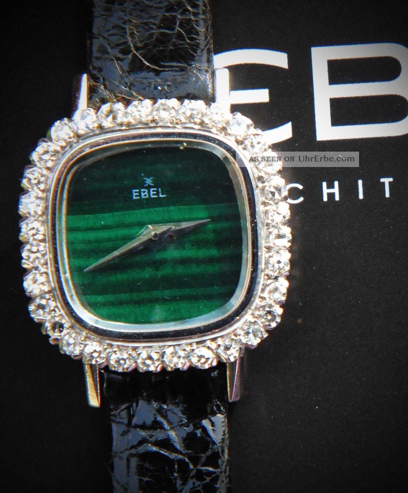 Ebel Lady Weiß Gold 750 Malachit Diamanten Armbanduhren Bild