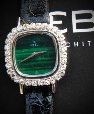 Ebel Lady Weiß Gold 750 Malachit Diamanten Bild