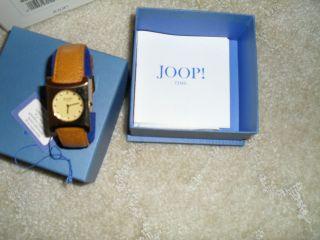 Damen Armbanduhr Joop Vergoldet Lederarmband Ungetragen In Ovp,  Rechnung Bild