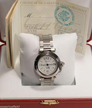 Cartier Modell Pasha Automatik Damenuhr Mit Box Und Papieren Bild