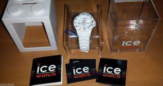 & Ovp Ice Watch Sili Weiß Unoisex White Uni Si.  We.  U.  S.  09,  Ersatz Schlaufe Bild