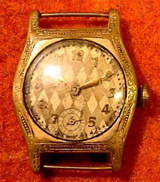 Historische Damen Analog Armbanduhr (mechanisch: Handaufzug) Mit Zeigeranzeige Bild