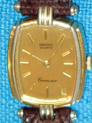 Seiko Quartz Connaisseur Japan Gold Design Damen Quarz Armbanduhr Uhr Damenuhr Bild