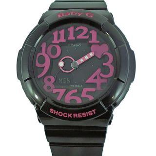 Casio Baby - G Uhr Armbanduhr Alarm Weltzeit Herz Schwarz Rosa Pink Bga - 130 - 1ber Bild