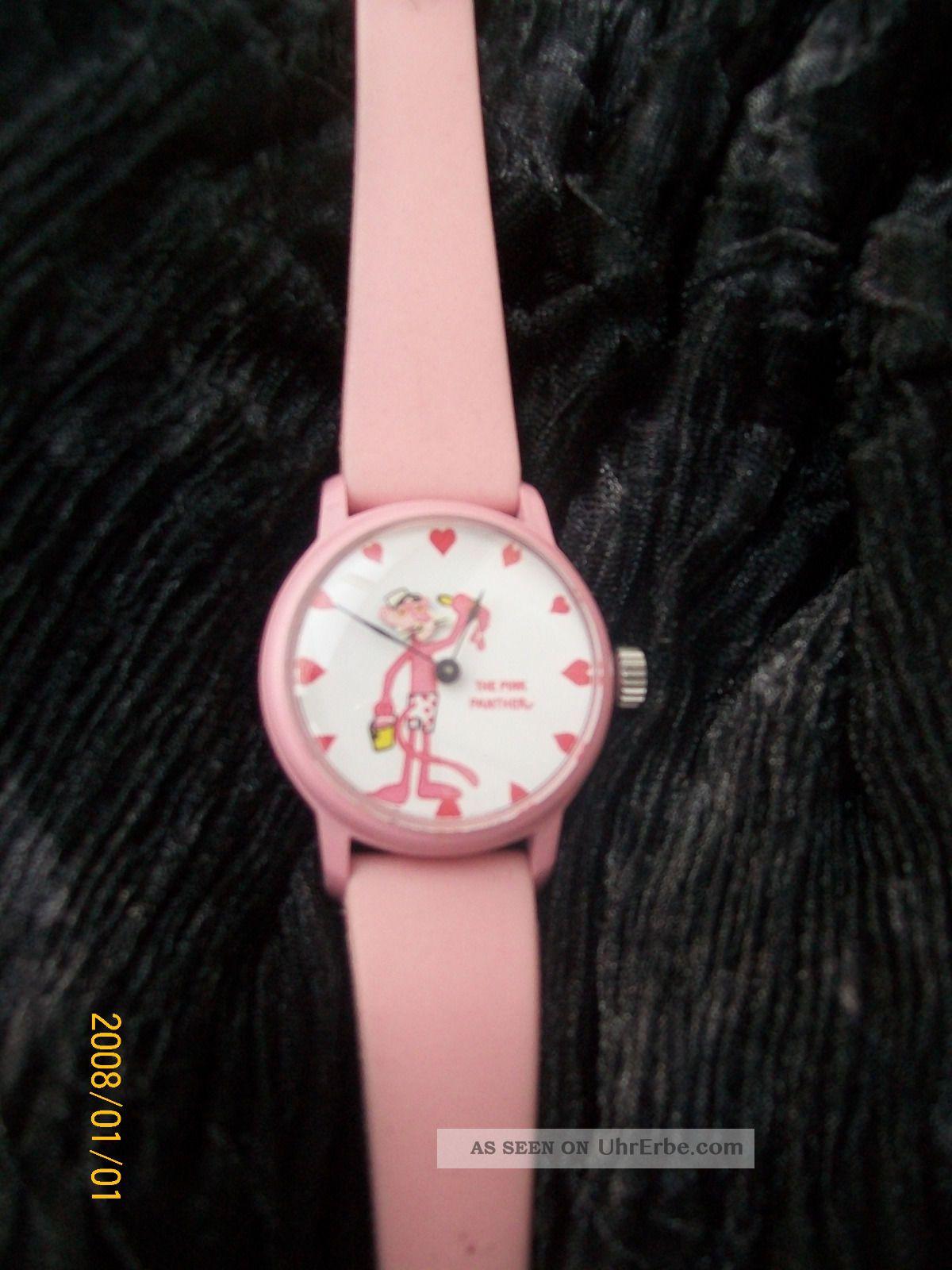 Kinderuhr Armbanduhr Pink Panther Armbanduhren Bild