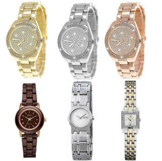Pure Time® Designer Strass Damenuhr,  Damen Armband Uhr,  Gold,  Silber,  Rose,  Uhrenbox Bild