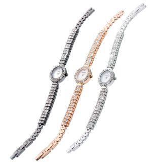 Damen Schmuckbanduhr Uhr Edelstahl Similisteine Starsssteine Verschiedene Farben Bild