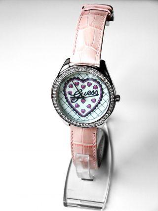 Guess Damenuhr Valentin W75064l1 Armbanduhr Leder Edelstahl Damen Uhr Rosa Bild