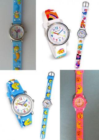1 Kinderarmbanduhr Meerjungfrau Fische Ente Sonne Mond Kinderuhr Uhr Uhren Bild