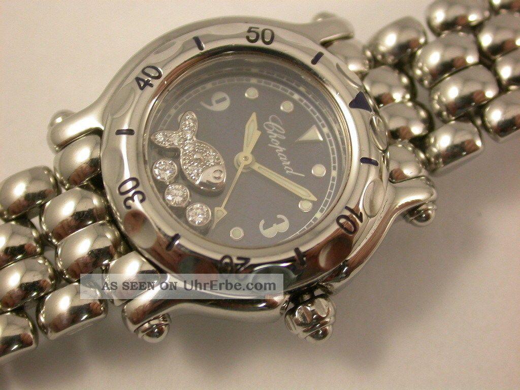 Org.  Chopard Happy Sport Fisch Stahl / Stahl 27 - 8626 Armbanduhren Bild