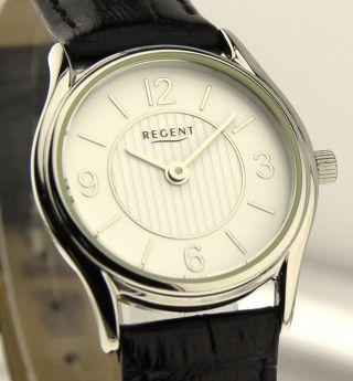 Armbanduhr Regent - Mineralglas - Mit Lederband Bild