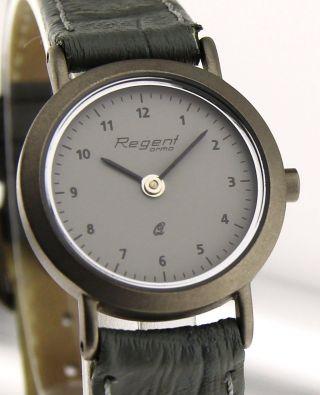 Armbanduhr Regent Ormo - Mineralglas - Mit Lederband - Titan Bild