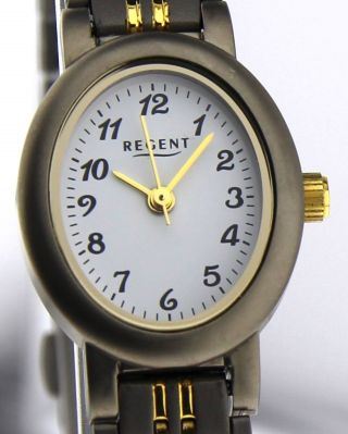 Armbanduhr Regent Bicolor - Mineralglas - Mit Gliederband - Titan Bild