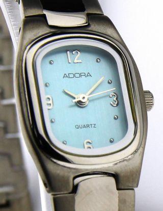 Armbanduhr Adora - Mineralglas - Mit Gliederband - Titan - Zifferblatt Blau Bild