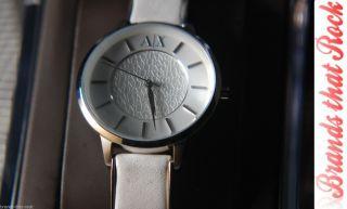 Armani Exchange Designer Damenuhr Ladies Marken Grau Echtleder Rostfrei Ax5300 Bild