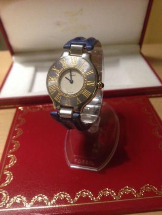 Cartier Must Ligne - 21 Montre Uhr Damenuhr Stahl/gold Bild
