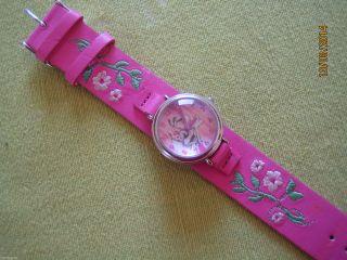 Diddl - Diddlina Mädchenuhr Pink/rosa Mit Stickerei Blumen - Nwtg Bild