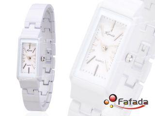 Fafada Kimio Damenuhr Armbanduhr Damen Quarz Analog Uhr Uhren Weiß Viereck Bild