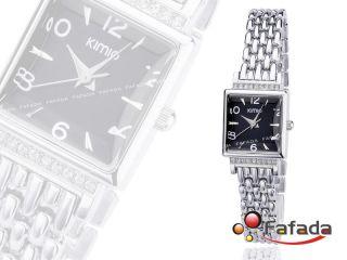 Fafada Kimio Mode Quarzuhr Damenuhr Armbanduhr Analog Uhr Uhren Viereck Schwarz Bild