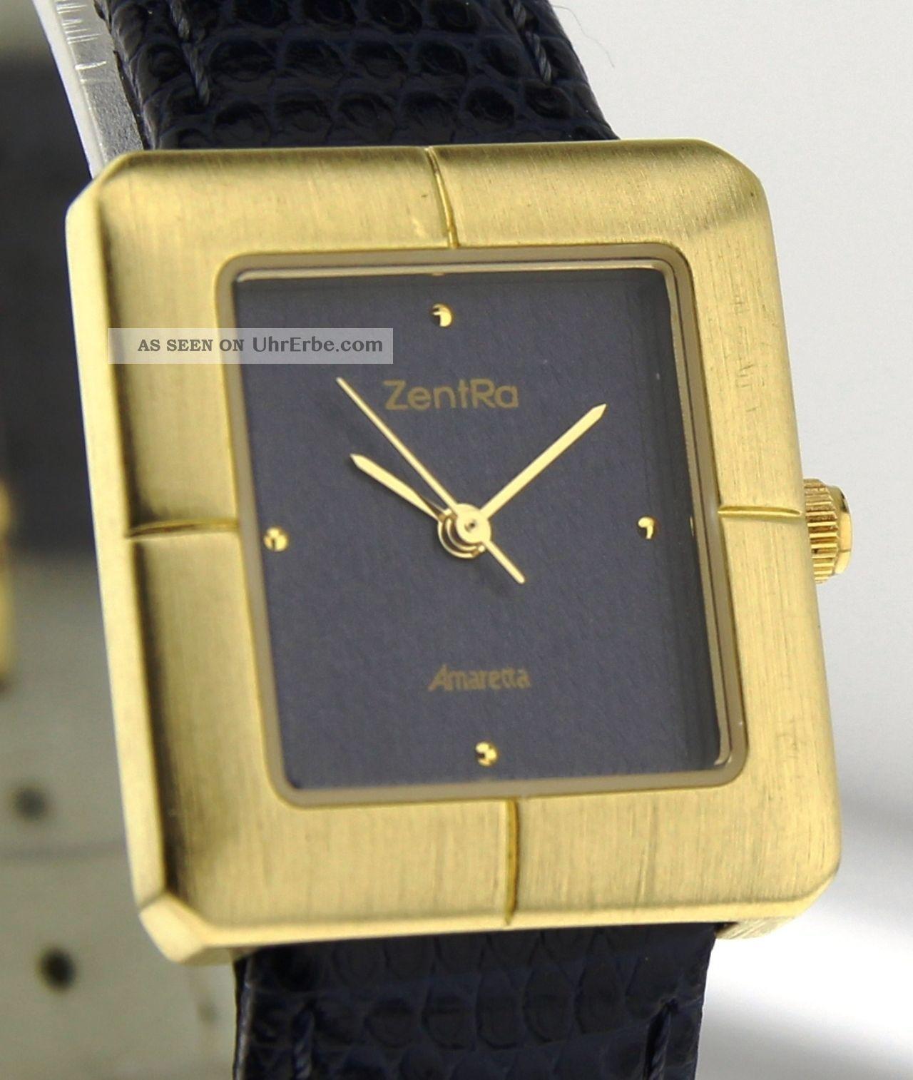 Armbanduhr Zentra Amaretta - Messing - Mineralglas - Mit Lederband Armbanduhren Bild